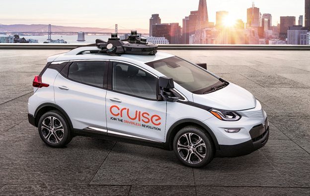 Car from GM Cruise LLC, a driverless  car company that tests and develops autonomous car technology.