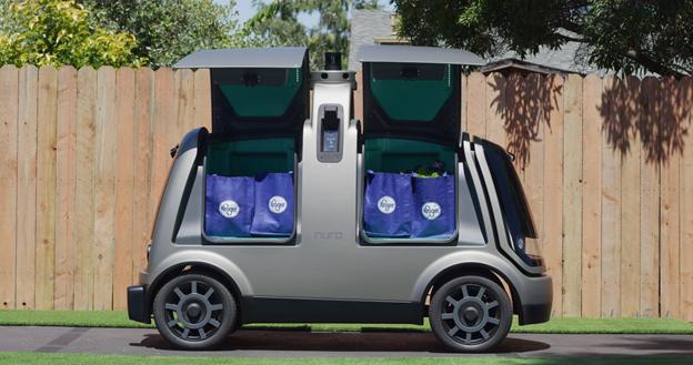 Kroger's self-driving delivery pod.