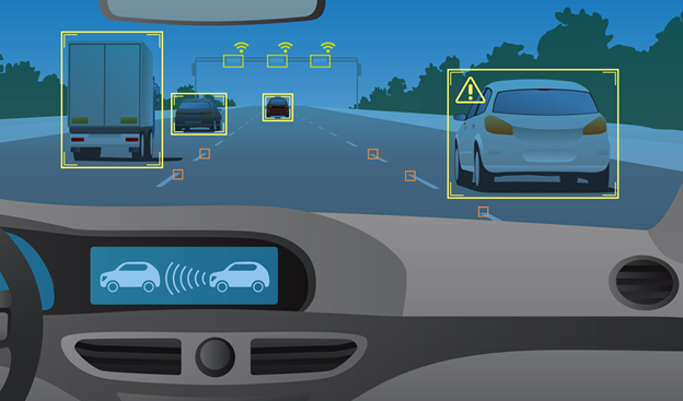 Autonomous vehicle recognition of other vehicles on road.